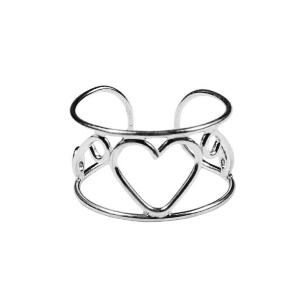 Open Heart Toe Ring