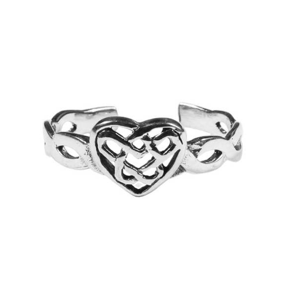 Celtic Heart Toe Ring