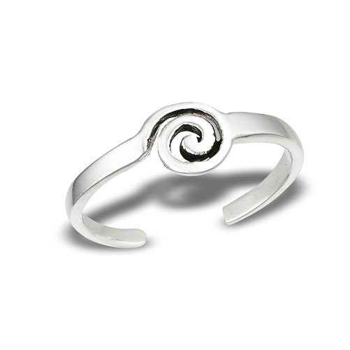 Spiral Sterling Silver Toe Ring