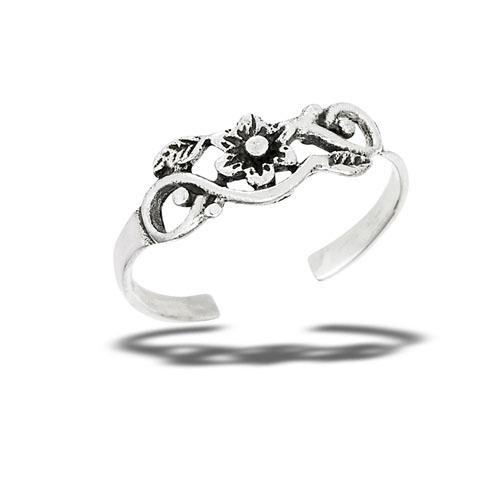 Flower Vines Sterling Silver Toe Ring