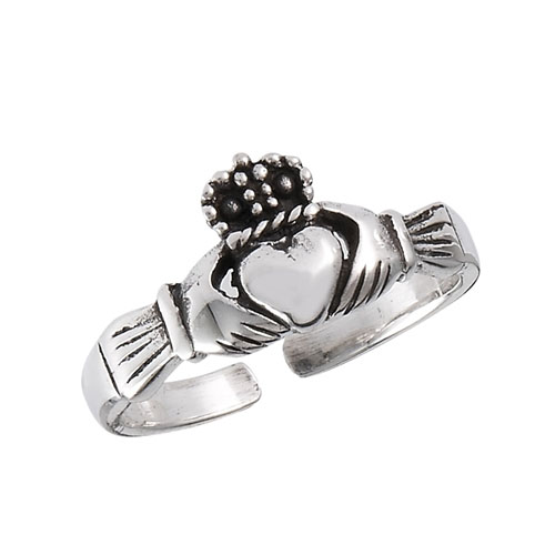 Claddagh Sterling Silver Toe Ring
