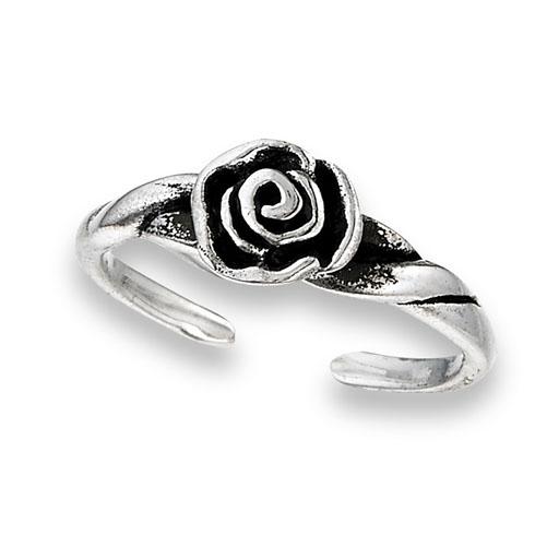 Little Rose Sterling Silver Toe Ring