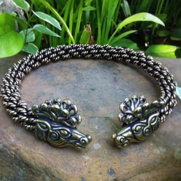 Stag of Cernunnos Torc Extra Heavy Braid