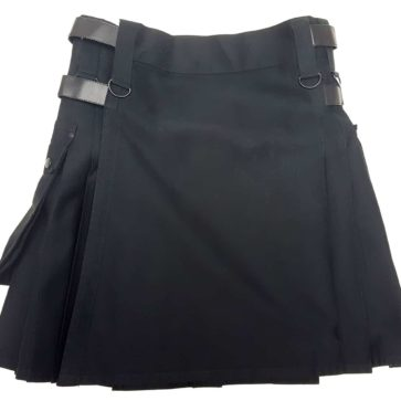 KCAN3 Black Canvas Utility Kilt