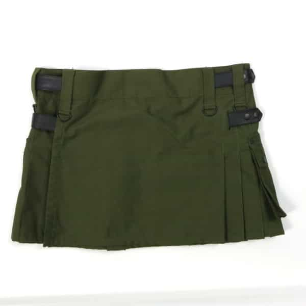 Olive Green Canvas Utility Kilt