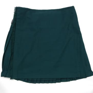 Solid Green Quality Wool-Blend Clearance Kilt