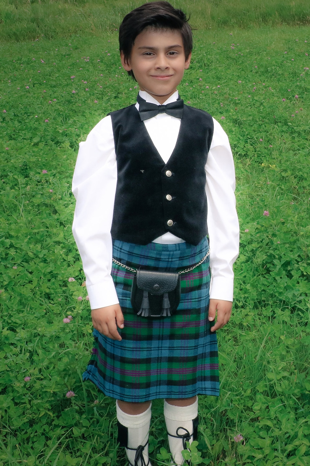Young Boy in our Good Basic Kilt for Kids