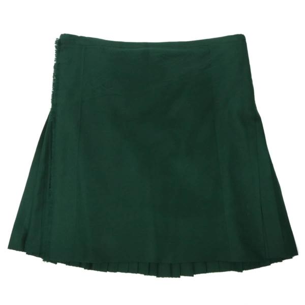 Solid Green Homespun Kilt