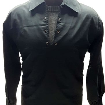 Poly Micro Jacobite Shirt - Black