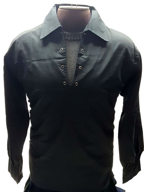 Poly Micro Jacobite Shirt - Black