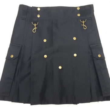KWIL-IS-1813 Black Wilderness Kilt