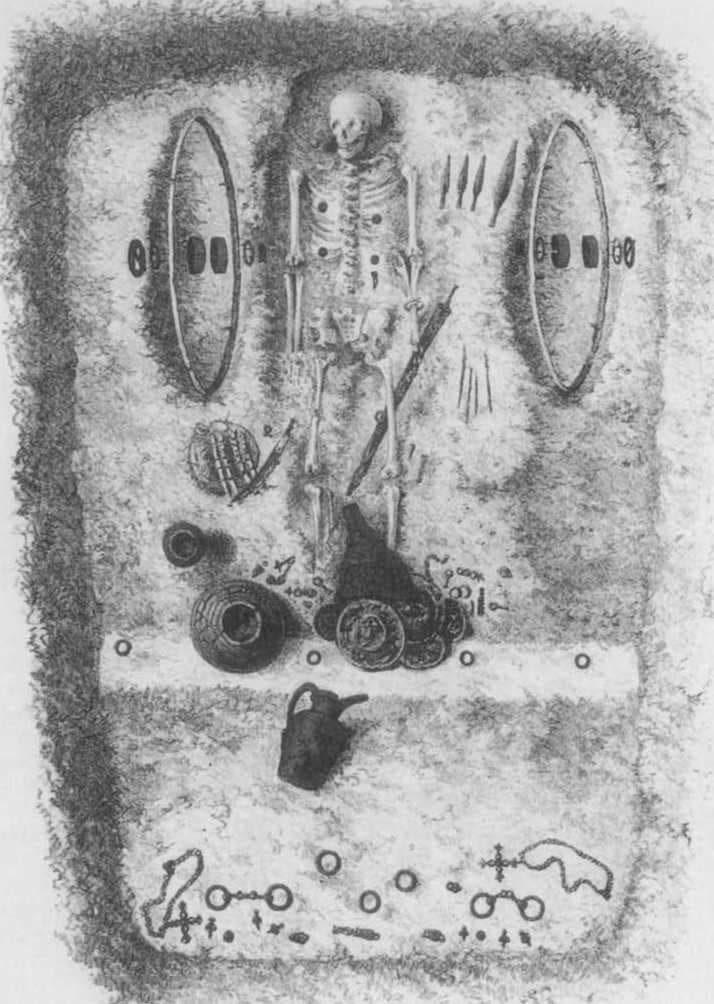 The La Gorge Meillet Chariot burial discovered in 1867