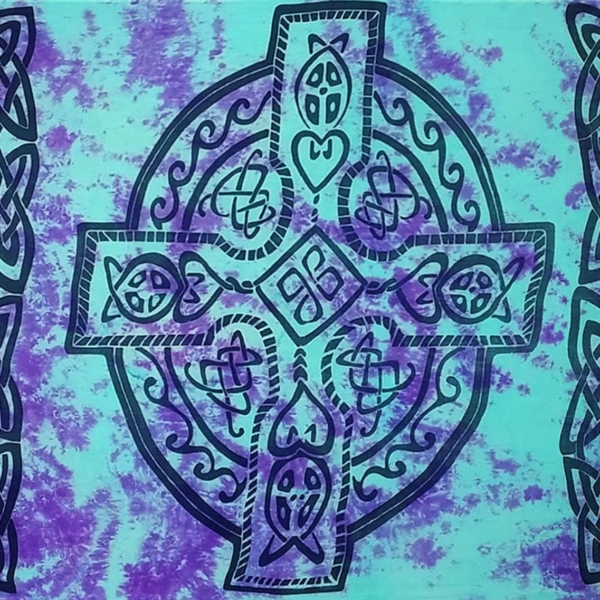 Celtic Sarong Purple/Blue Celtic Cross