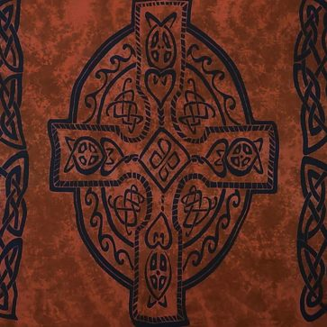 Celtic Sarong Brown Celtic Cross