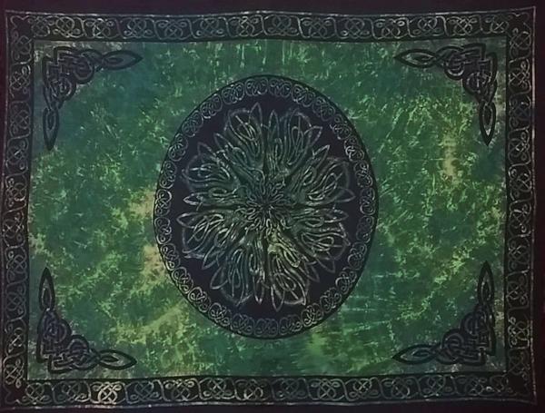 Celtic Sarong Green Celtic Knot Circle