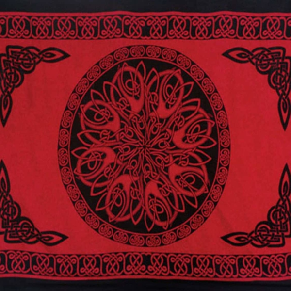 Celtic Sarong Red Celtic Knot Circle