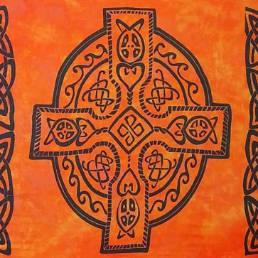 Celtic Sarong Orange Celtic Cross