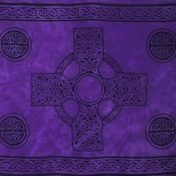 Celtic Sarong Purple Celtic Cross