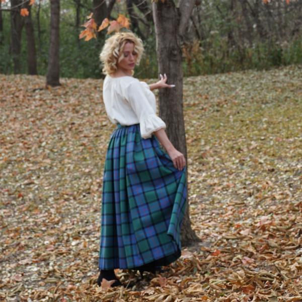Tartan Gathered Skirt