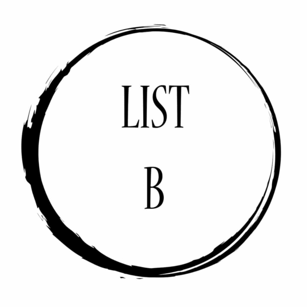 LIST B