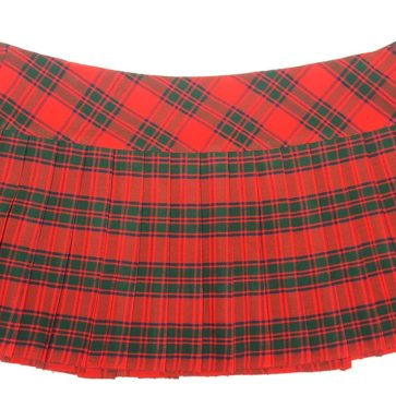LKMHS-IS-1810 Robertson Red Homespun Kilted Mini Skirt