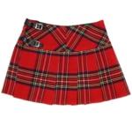LKMHS Homespun Mini Skirt Stewart Royal Tartan