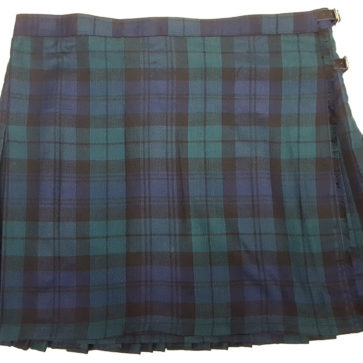 LKSPVP-IS-1815 Black Watch Modern Poly-Viscose Kilted Skirt