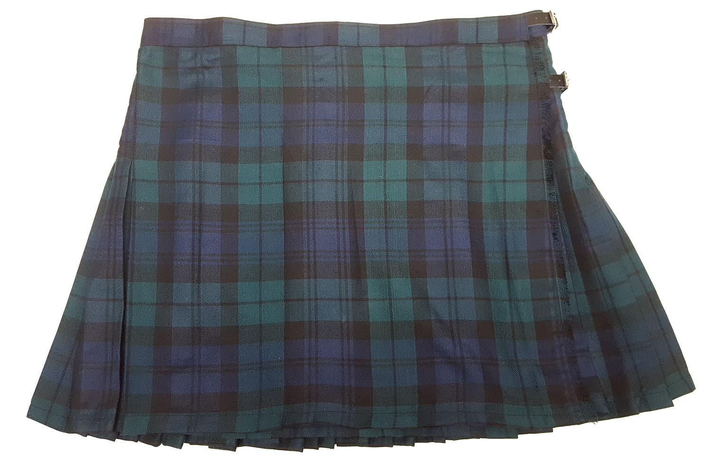 LKSPVP-IS-1815 Black Watch Modern Poly-Viscose Kilted Skirt