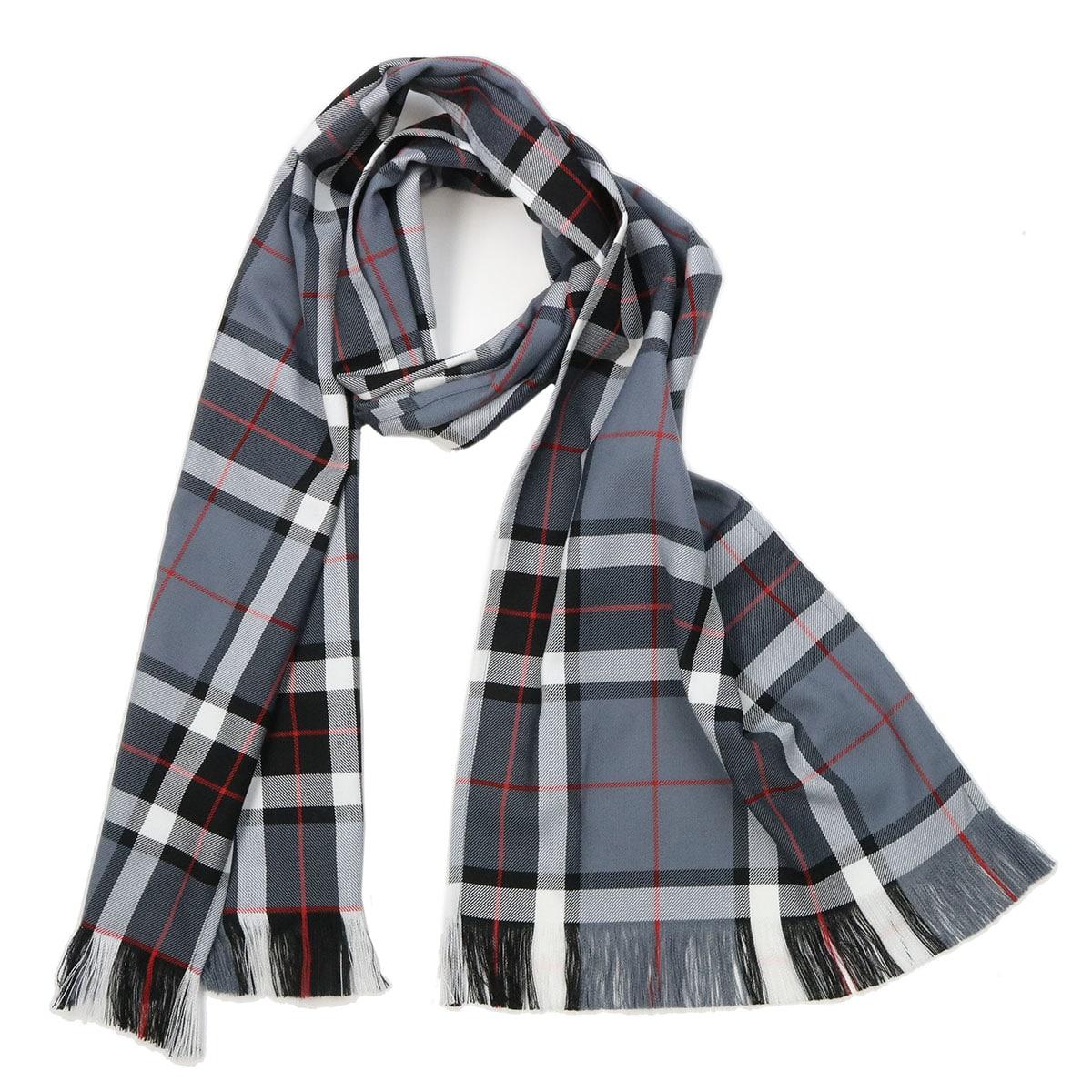 New Long Neck Fashion Thomson Grey Tartan Scarf Scottish Wool Clan Scarves