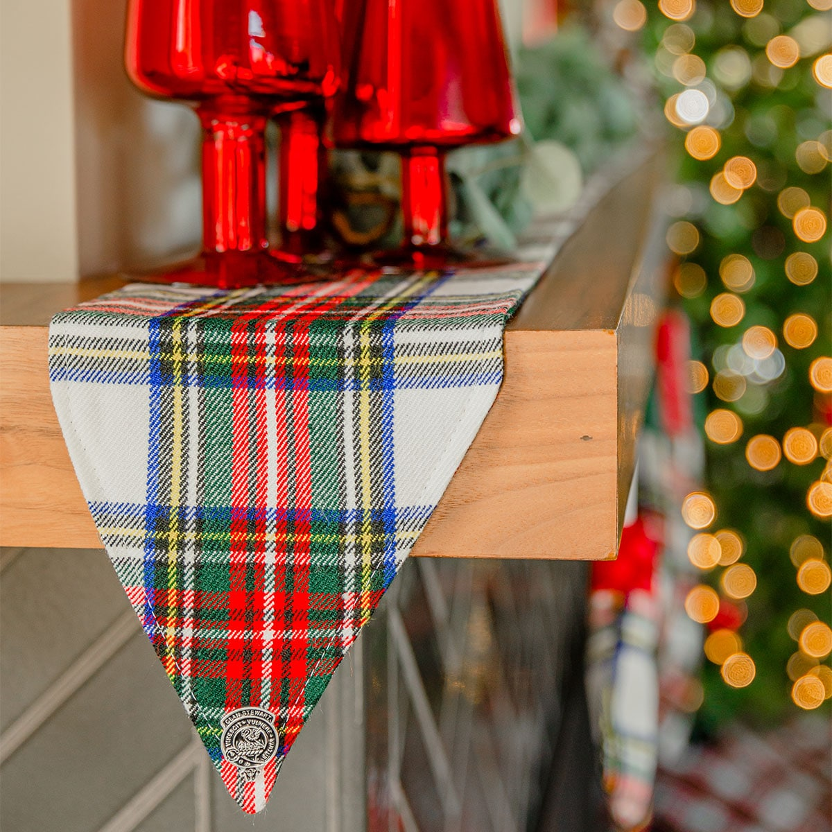 A Tartan Mantle Runner from the Celtic Croft Holiday Gift Guide