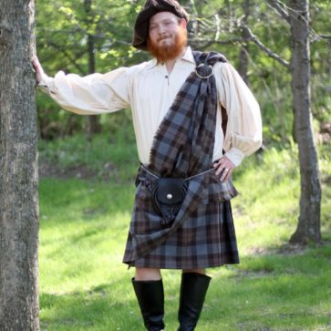 OUTLANDER Poly Viscose Ancient Kilt