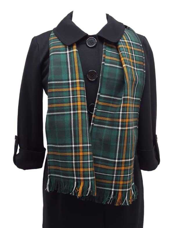 Irish National Tartan Wool Scarf