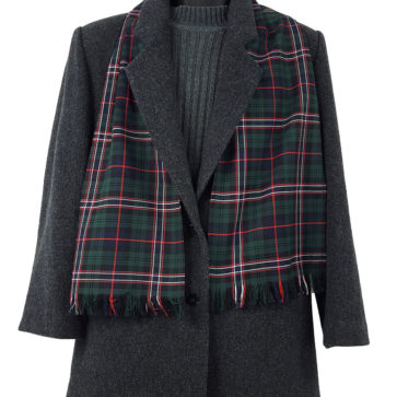 Scottish National Poly/Viscose Tartan Scarf