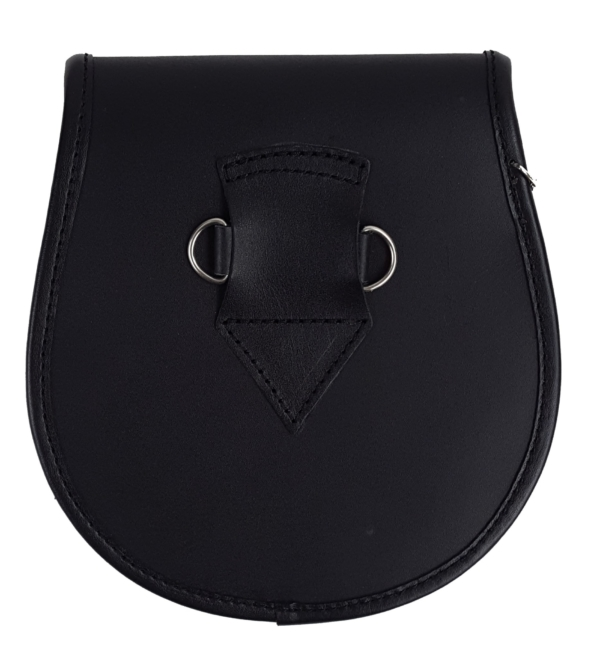 Spike Closure Embossed Leather Sporran