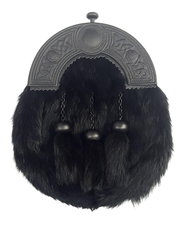 Black Cantle Fur Sporran