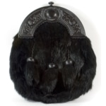 Black on Black Rabbit Economy Fur Sporran