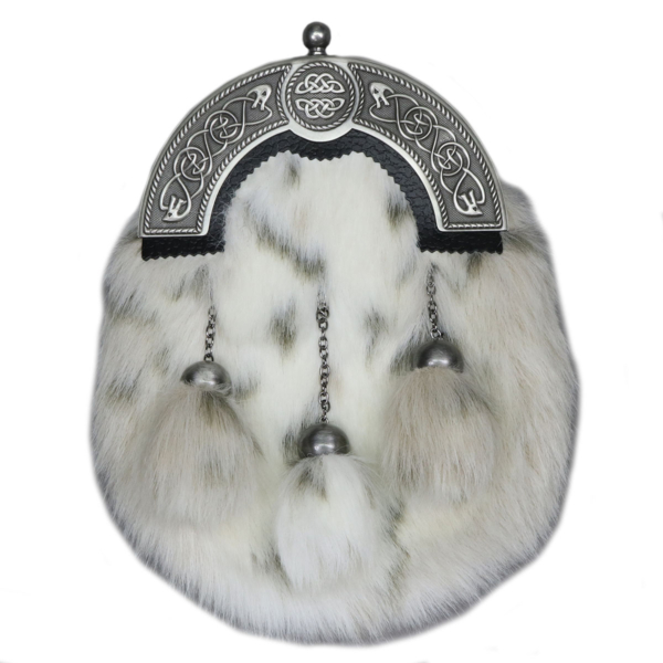 Deluxe Faux Lynx Fur Formal Dress Sporran