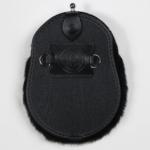 Deluxe Black Rabbit Dress Sporran