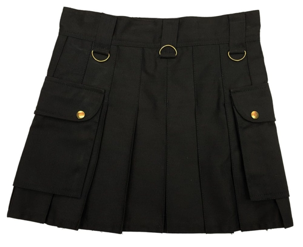 Black Wilderness Mini Skirt Back