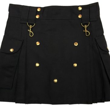 Black Wilderness Mini Skirt