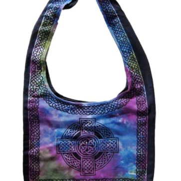 Purple Celtic Cross Book Bags