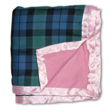 Fleece Lined Tartan Blankets Light Weight
