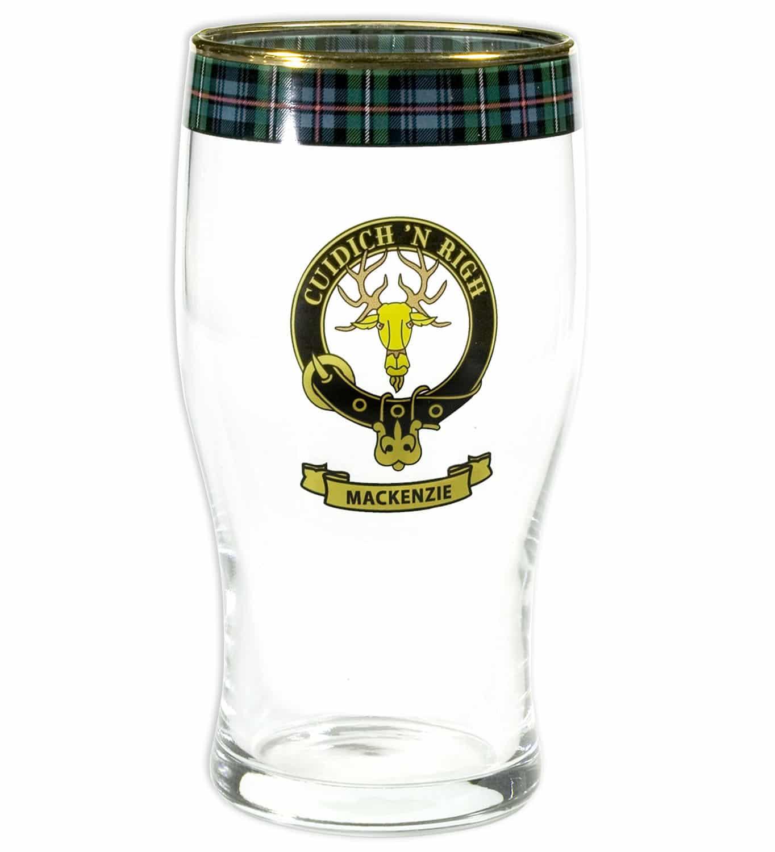 Clan Crest Tartan Pub Pint Glass