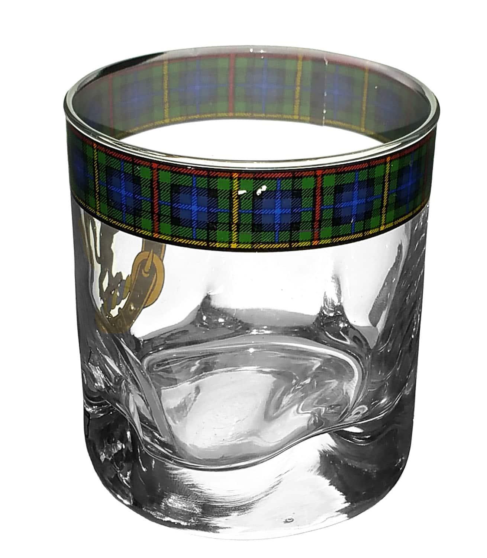 STCWG-CL-1768 Smith Clan Crest Tartan Whistky Glass