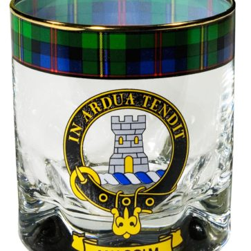 Clan Crest Tartan Whisky Glass