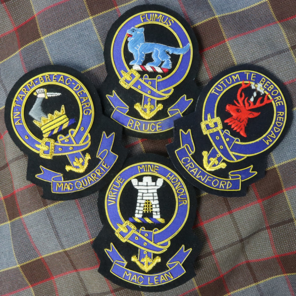Embroidered Clan Crest Badges