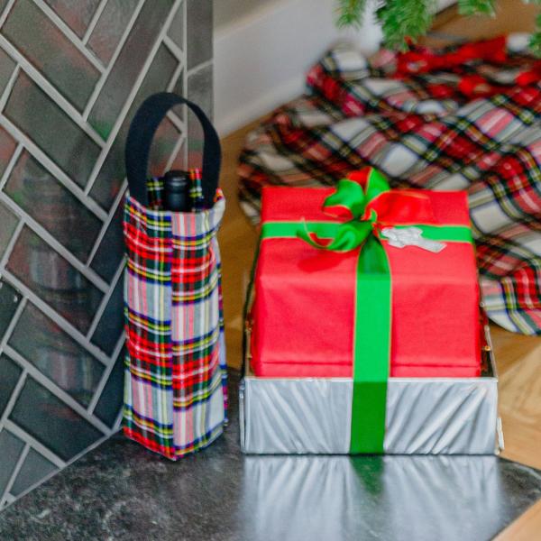 Tartan Scotch/Wine Gift Bag
