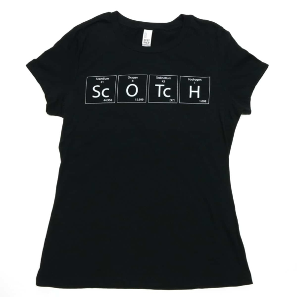 TSSCW Scotch Periodic Table Shirt - Womens Cut