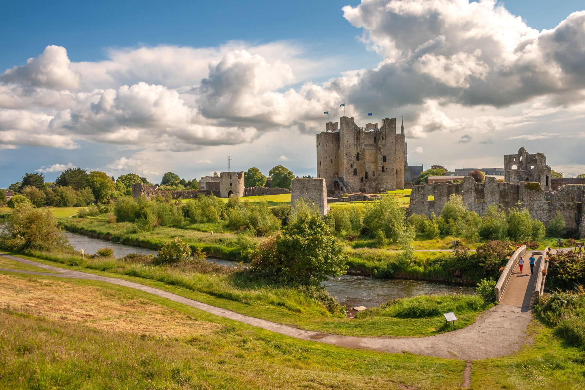 Trim Castle, one of the many castles in Ireland.