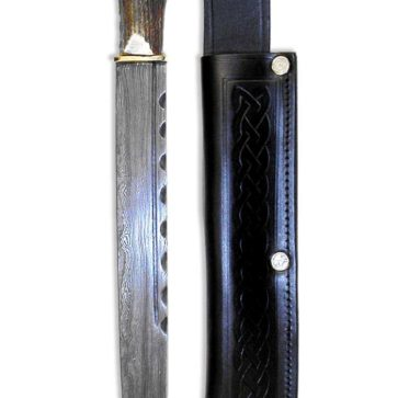Stag Handle Damascus Steel Dirk